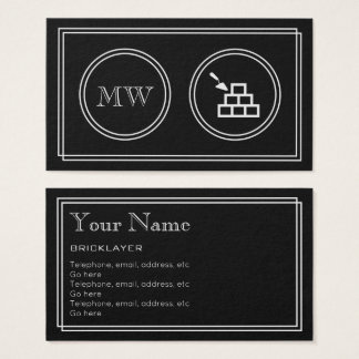 """Silent Movie"" Bricklayer Business Cards"