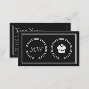 Cake making business cards business card printing zazzle uk silent movie cake making business cards reheart Image collections