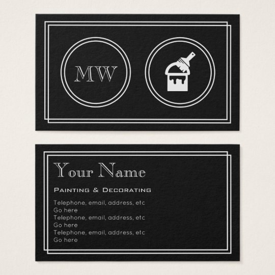 """Silent Movie"" Decorator Business Cards"