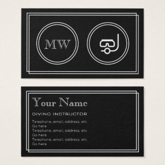 """Silent Movie"" Diving Instructor Business Cards"