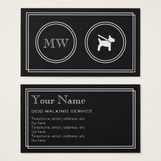 """Silent Movie"" Dog Walker Business Cards"