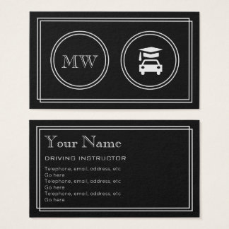 """Silent Movie"" Driving Instructor Business Cards"