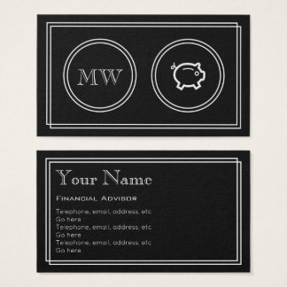 """Silent Movie"" Financial Advisor Business Cards"
