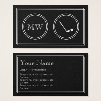 """Silent Movie"" Golf Instructor Business Cards"