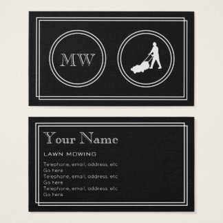"""""""Silent Movie"""" Lawn Care Business Cards"""