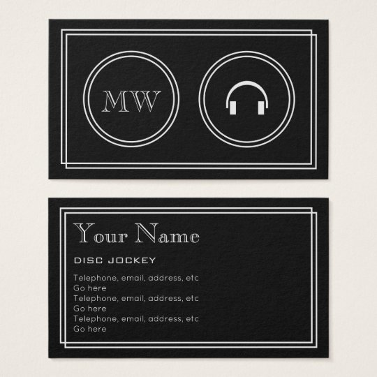 """Silent Movie"" Music DJ Business Cards"