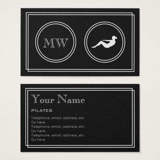 """Silent Movie"" Pilates Business Cards"