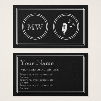 """Silent Movie"" Professional Singer Business Cards"