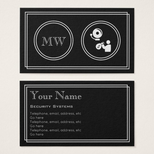 """Silent Movie"" Security Systems Business Cards"