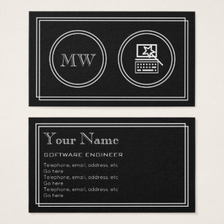 """""""Silent Movie"""" Software Engineer Business Cards"""