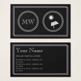 """Silent Movie"" Solar Installer Business Cards"