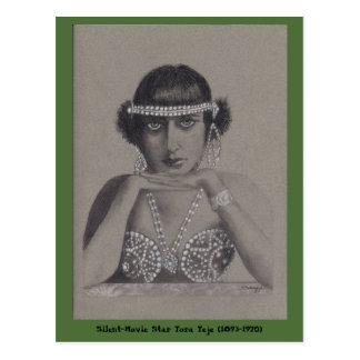 Silent-Movie Star Postcard
