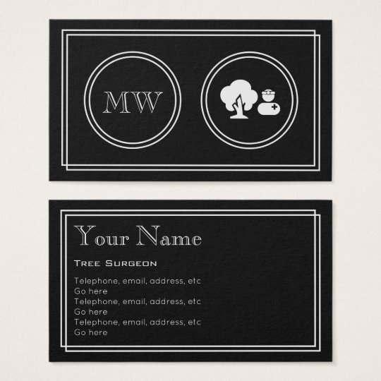 """Silent Movie"" Tree Surgeon Business Cards"