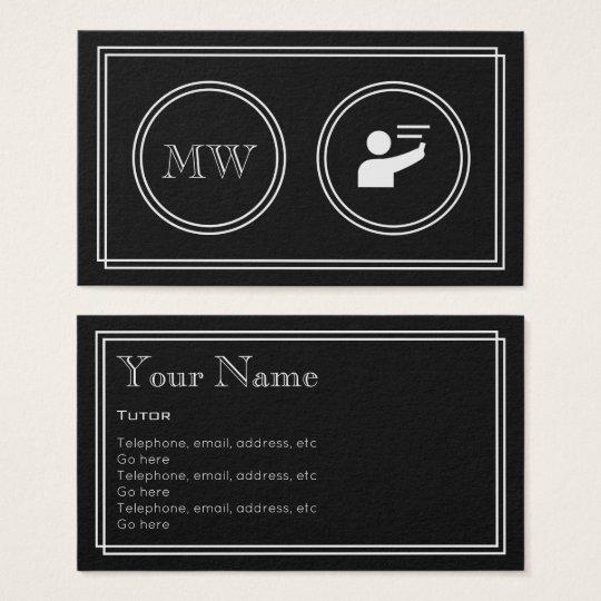 """Silent Movie"" Tutor Business Cards"