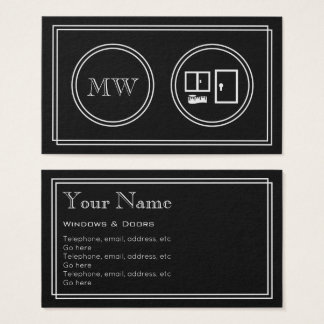 """Silent Movie"" Windows and Doors Business Cards"