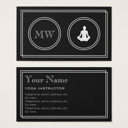 """""""Silent Movie"""" Yoga Instructor Business Cards"""