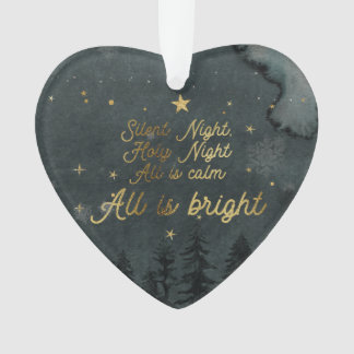 Silent Night Acrylic Ornament HEART