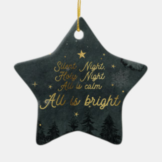 SILENT NIGHT, ALL IS BRIGHT Star Ornament
