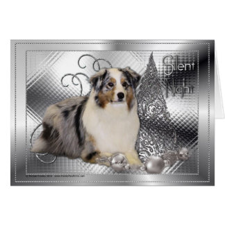 Silent Night - Australian Shepherd Card
