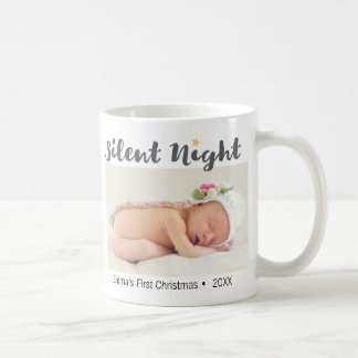 Silent Night, Baby's first, Christmas, Personalize Coffee Mug