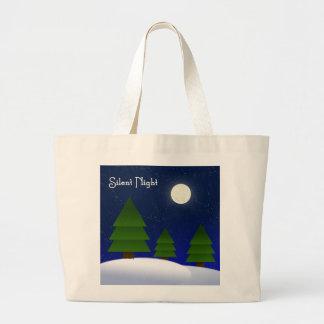 Silent Night Canvas Bag