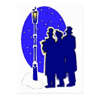 SILENT NIGHT CAROLERS BY AES POSTCARD