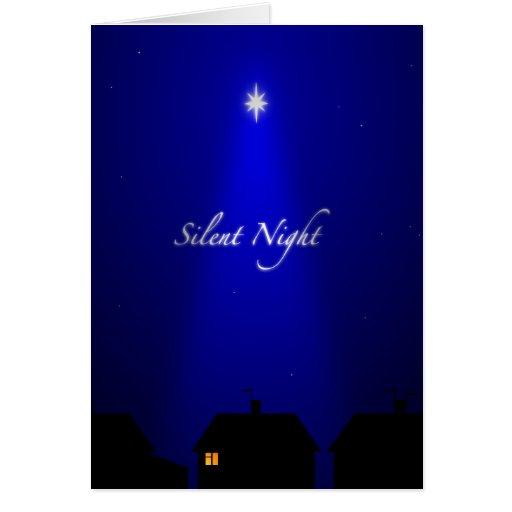 Silent Night Christmas Card