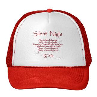 """Silent Night"" Christmas Carol Lyrics - Red Trucker Hat"