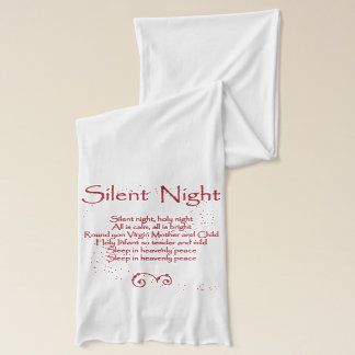 """Silent Night"" Christmas Carol Lyrics - Red Scarf"