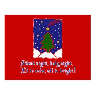 Silent Night Christmas Carol T-shirts, Apparel Post Card