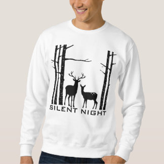 Silent Night Deer in Woods  - Christmas Sweatshirt