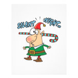 silent night elf ear candy cane stuffed humour full color flyer
