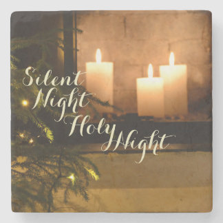 """Silent Night Holy Night"" Beloved Christmas Carol Stone Coaster"