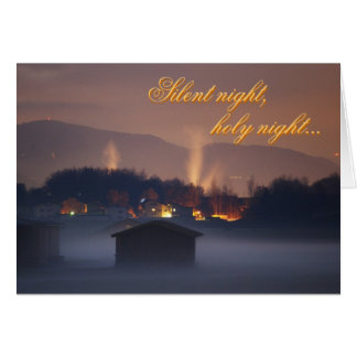 Silent night,holy night card