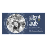 Silent Night, Holy Night Christian Christmas Personalised Photo Card