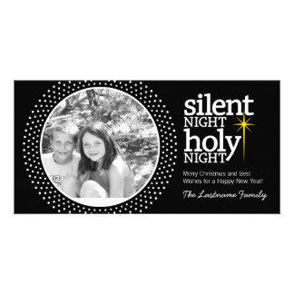 Silent Night, Holy Night Christian Christmas Photo Greeting Card
