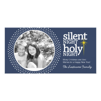 Silent Night, Holy Night Christian Christmas Custom Photo Card