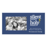 Silent Night, Holy Night Christian Custom Photo Card