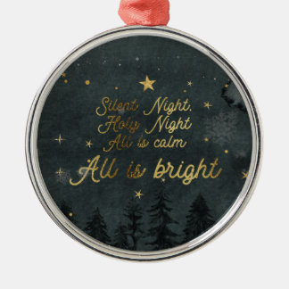 SILENT NIGHT HOLY NIGHT Circle Ornament