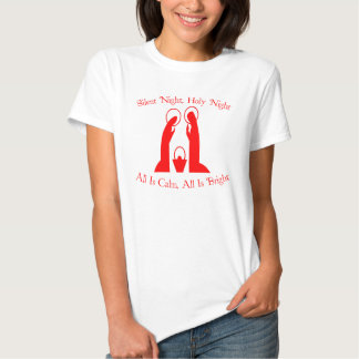 Silent Night, Holy Night Ladies Nativity T-Shirt