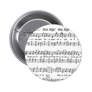 SILENT NIGHT HOLY NIGHT SHEET MUSIC CHRISTMAS SONG 6 CM ROUND BADGE