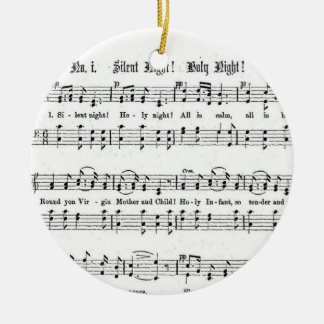 SILENT NIGHT HOLY NIGHT SHEET MUSIC CHRISTMAS SONG CHRISTMAS ORNAMENT