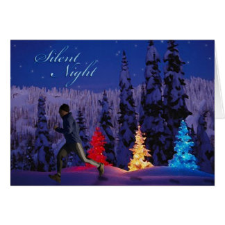 Silent Night - Male Running By Card