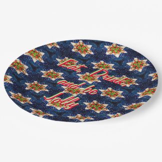 Silent Night Paper Plate