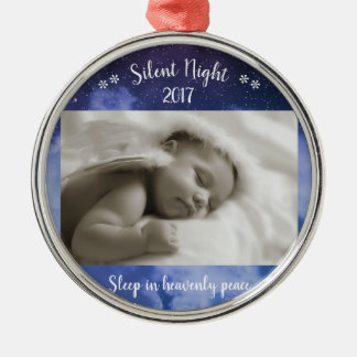 Silent Night Photo - Cirlce Ornament