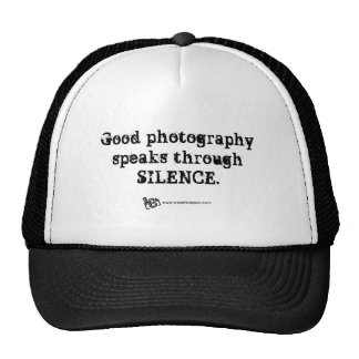 Silent Photography Quote Hats