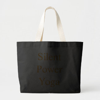 Silent Power Yoga Tote Bags