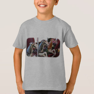 Silent Racers Carousel Horse Kids T-Shirt
