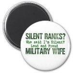 silent ranks fridge magnet