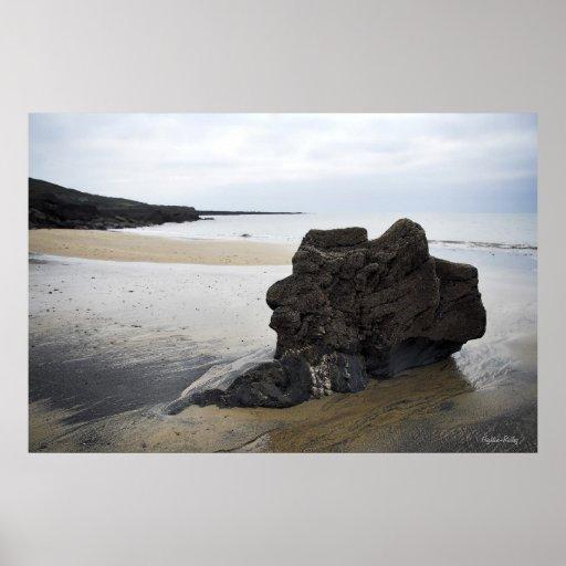 Silent Sentinel Beach Rock Poster